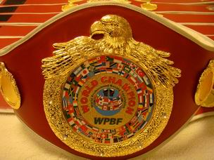 WPBF World Champion Belt